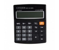 Калькулятор Citizen (10 разр) SDC810BN 125*100*34мм черн